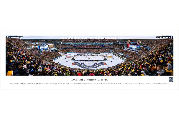 NHL Winter Classic 2016 by Christopher Gjevre Photographic Print by Blakeway Worldwide Panoramas, Inc