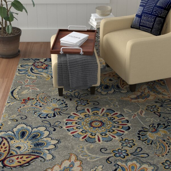 Albion Gray/Blue Area Rug by Winston Porter