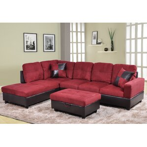 Russ Sectional  sc 1 st  Wayfair : leather and suede sectional - Sectionals, Sofas & Couches