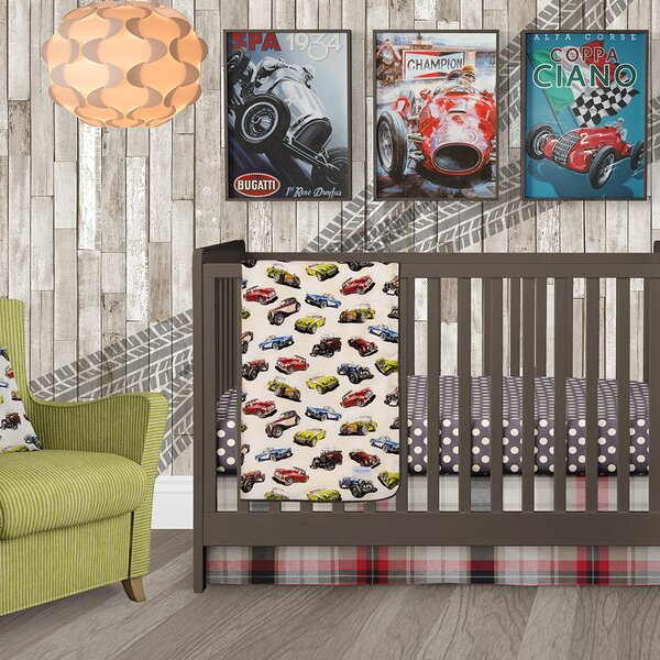 Fast Track Crib Skirt by Glenna Jean