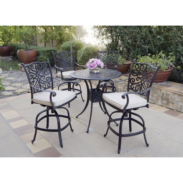 Bunce 5 Piece Dining Set with Cushions by Canora Grey