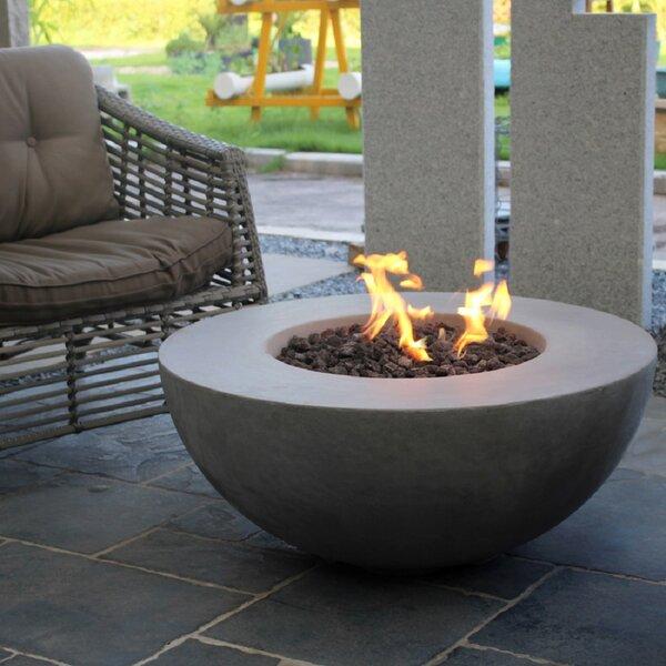 Schoen Concrete Propane/Natural Gas Fire Pit By Orren Ellis