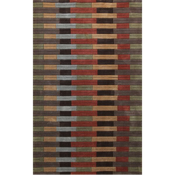 Symphony Hand-Tufted Green/Orange Area Rug by Dynamic Rugs
