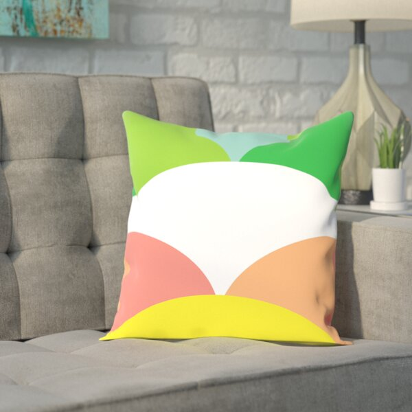 Spring Color Circles Outdoor Throw Pillow by East Urban Home