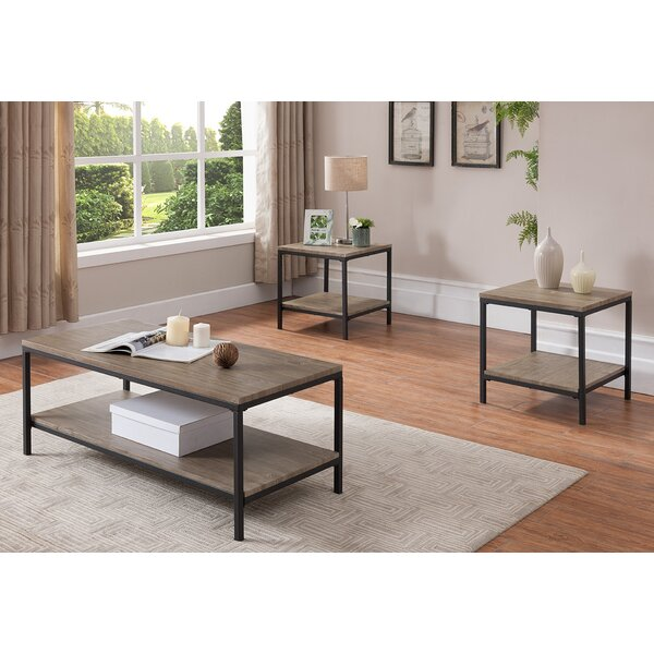 Hallett 3 Piece Coffee Table Set by Williston Forge