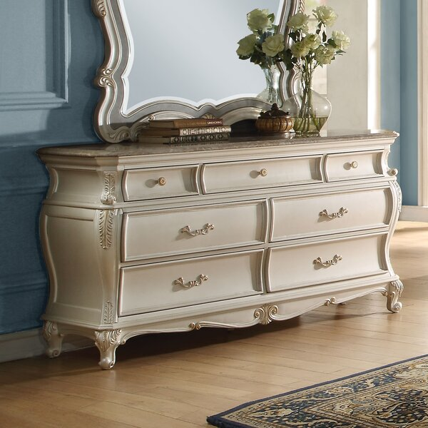 Leawood Traditional 7 Drawer Double Dresser by Rosdorf Park