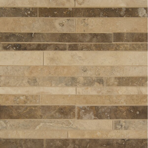 Sized Travertine Mosaic Tile in Tan by Grayson Martin
