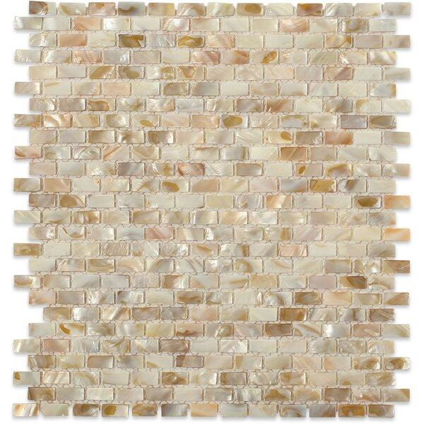 Noburu .75 x .25 Glass Pearl Shell Mosaic Tile in Gray by Splashback Tile