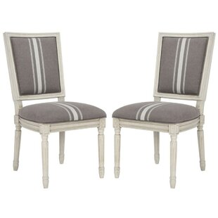 Check Prices Rosemary French Brasserie Upholstered Dining Chair (Set of 2) Good price