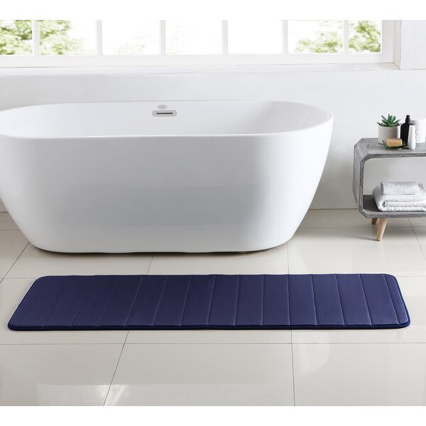 Leone Stitch Memory Foam Bath Rug by Red Barrel Studio
