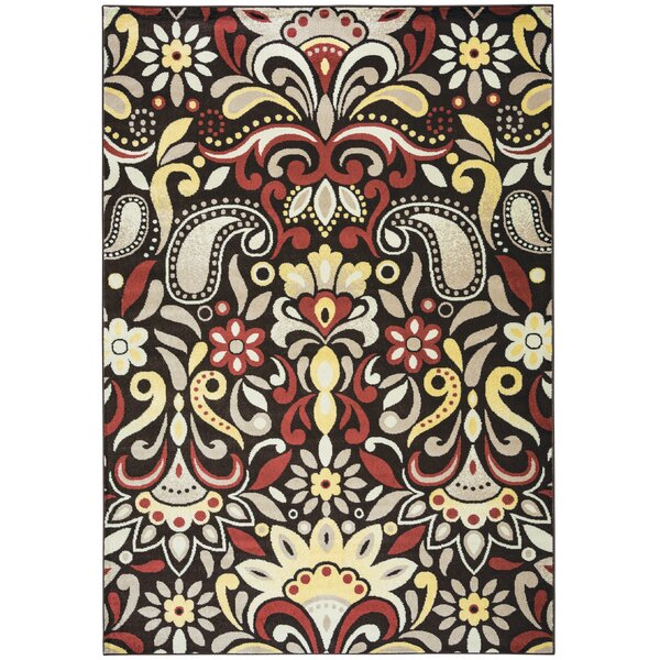 Culver Floral Brown Area Rug by Threadbind