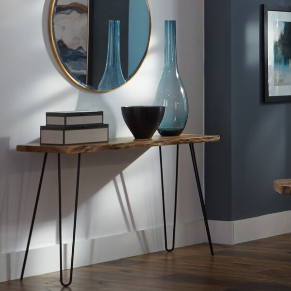 Tindle Live Edge Hairpin Console Table by Union Rustic