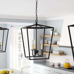 Top Reviews Sennett 3-Light Lantern Pendant By Gracie Oaks