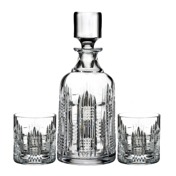 Dungarvan 3 Piece Decanter Set By Waterford.