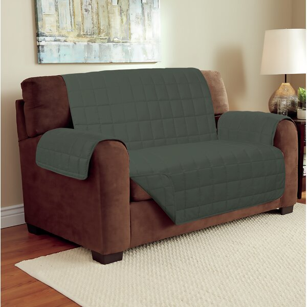 Suede Box Cushion Loveseat Slipcover By Winston Porter