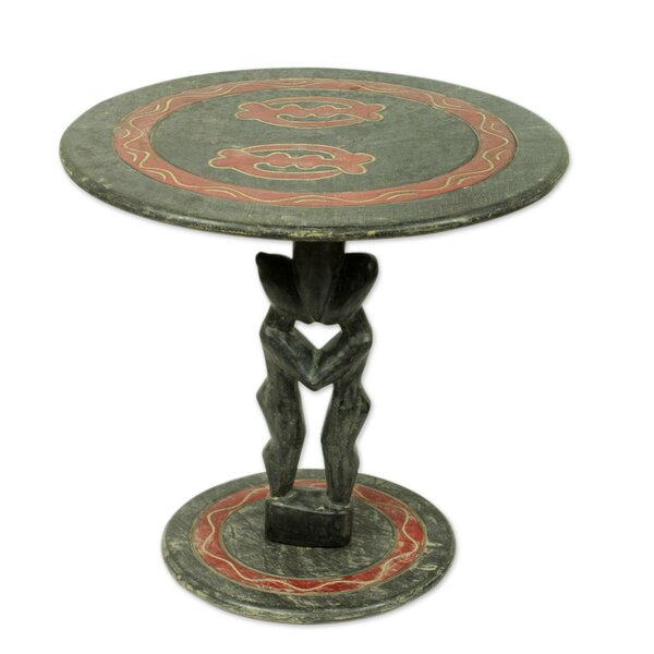 Shreyas Lovers Wood End Table by World Menagerie