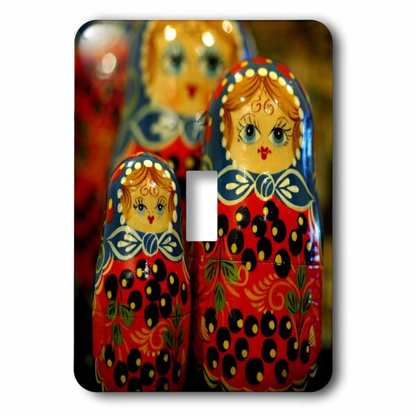Russian Dolls, Crafts, Old Town, Poland 1-Gang Toggle Light Switch Wall Plate by 3dRose