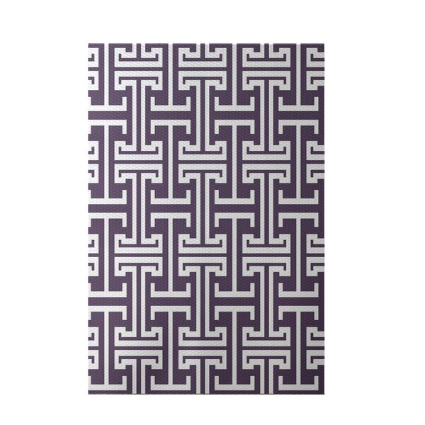 Greek Isles Geometric Print Larkspur Indoor/Outdoor Area Rug by e by design