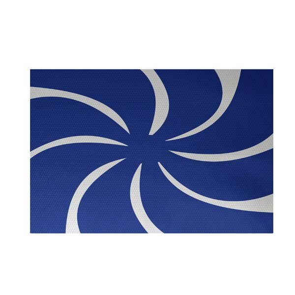 Decorative Holiday Abstract Print Royal Blue Indoor/Outdoor Area Rug by The Holiday Aisle