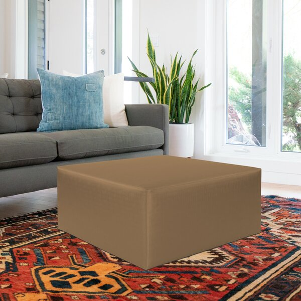 Fenham Square Pouf by Rosecliff Heights