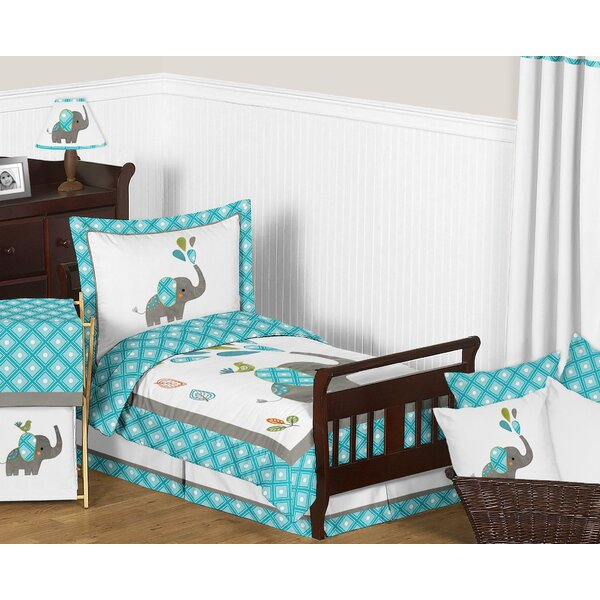 Mod Elephant 5 Piece Toddler Bedding Set by Sweet Jojo Designs