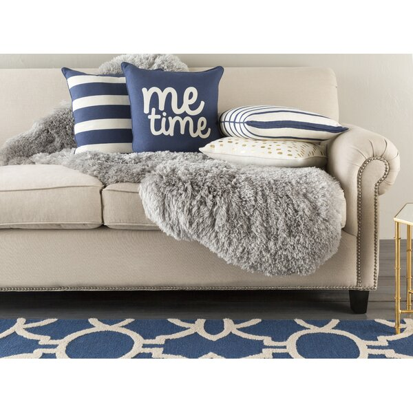 Carnell Me Time Cotton Throw Pillow Cover by Mercury Row