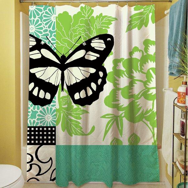 Butterfly Journey II Shower Curtain by Manual Woodworkers & Weavers