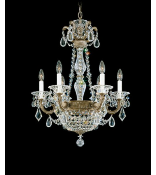 La Scala Empire 6-Light Chandelier by Schonbek