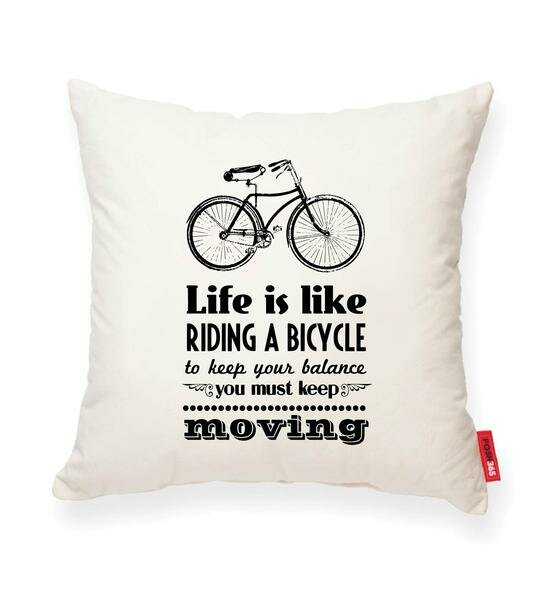 Luxury Bicycle Life Cotton Throw Pillow by Posh365