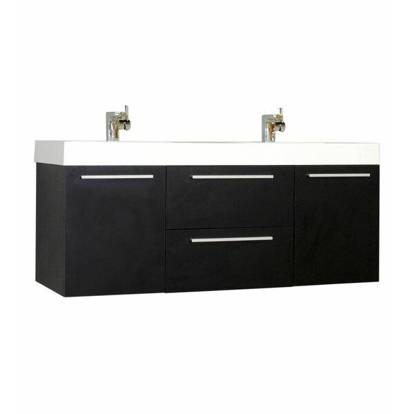 Galvin 54 Wall-Mounted Double Bathroom Vanity Set