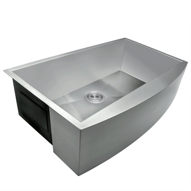 33 x 22 farmhouse apron stainless steel single bowl kitchen sink w dish - Kitchen Sink Drain Strainer