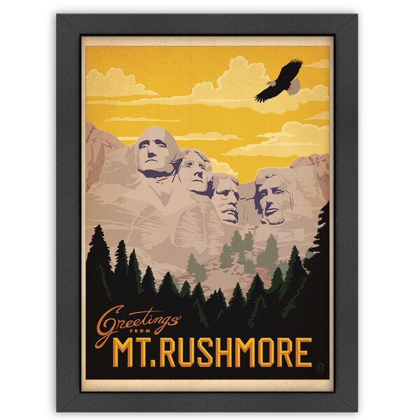 MT Rushmore Framed Vintage Advertisement by East Urban Home