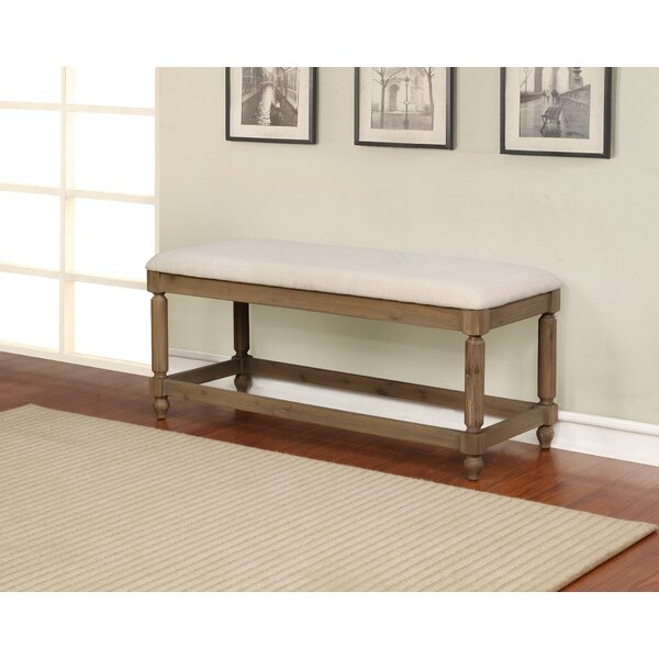 Armino Wood Bench by Gracie Oaks