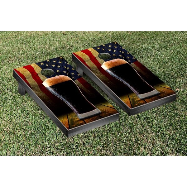 American Beer Themed Cornhole Game Set by Victory Tailgate