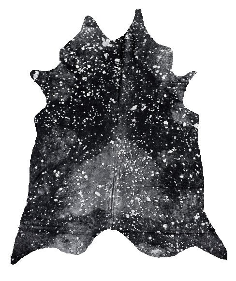 Henrietta Cowhide Silver/Black Area Rug by Millwood Pines