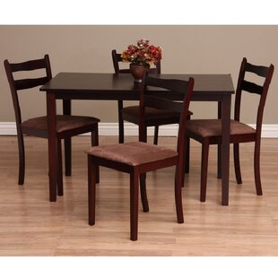 Callan 5 Piece Solid Wood Dining Set By Warehouse of Tiffany