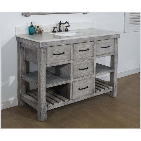 Wigington Solid Fir 49 Single Bathroom Vanity Set by Breakwater Bay