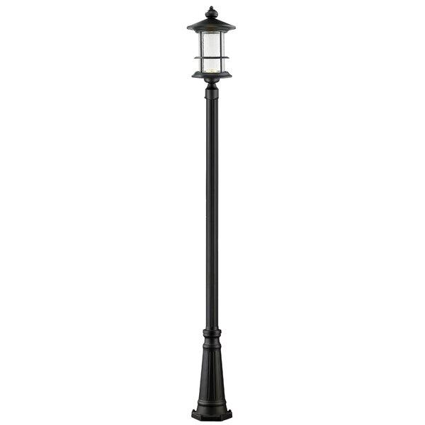Crow 1-Light LED 111.75 Post Light by Breakwater Bay