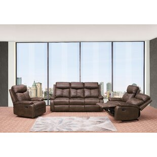 Douglass Circle Reclining 3 Piece Living Room Set Red Barrel Studio
