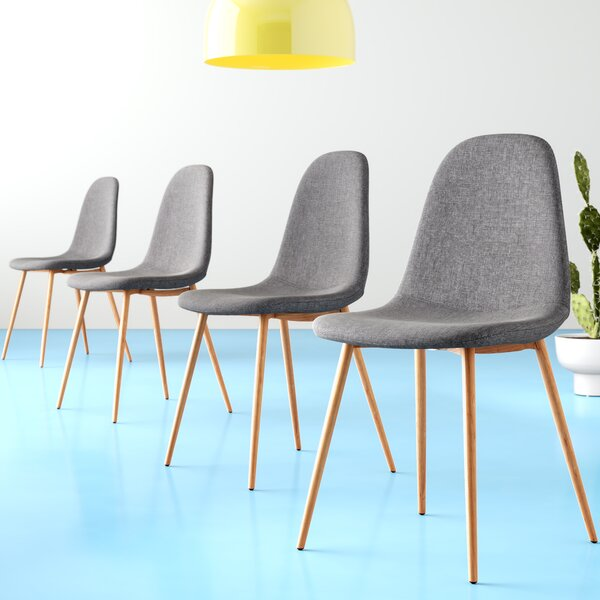 Jasper Strong Metal Legs Upholstered Dining Chair (Set of 4) by Hashtag Home
