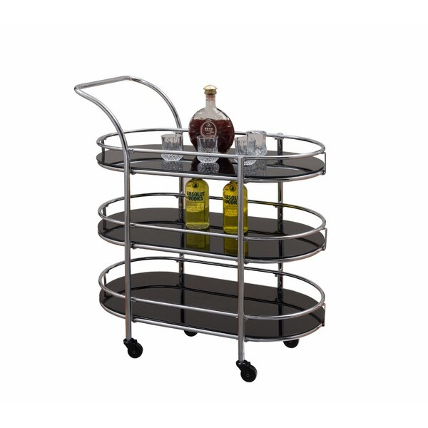 Engstrand Metal/Glass Bar Cart by Orren Ellis