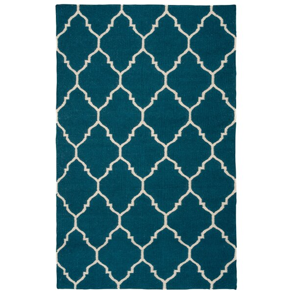 Fieldon Hand-Woven Blue Area Rug by Charlton Home