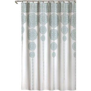 grey and coral shower curtain. Nemeara Shower Curtain Curtains You ll Love  Wayfair