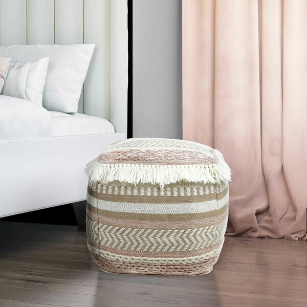 Greysen Pouf by Bungalow Rose
