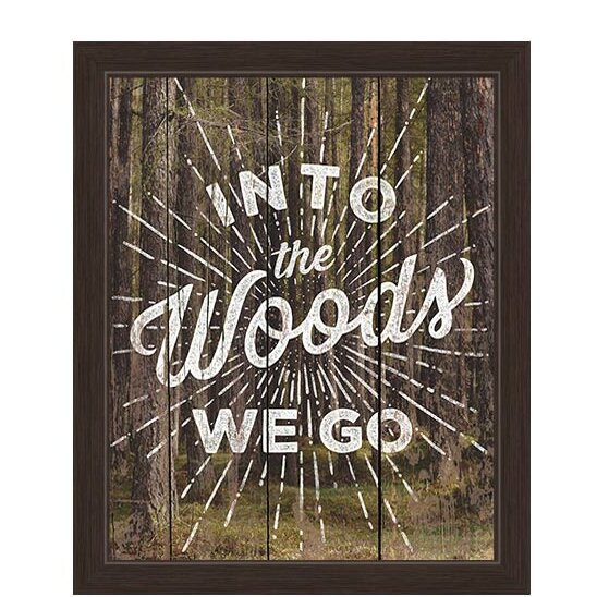 Into The Woods We Go Forrest Canvas Framed Textual Art by Click Wall Art