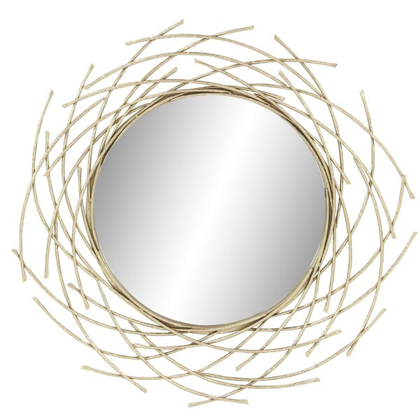 Harpswell Modern Overlapping Arc Accent Mirror by Bayou Breeze