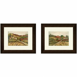 Tuscany B 2 Piece Framed Painting Print Set by PTM Images