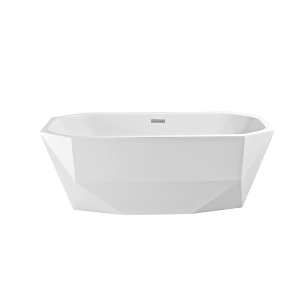 63 x 23.6 Freestanding Soaking Bathtub by Wildon Home ®