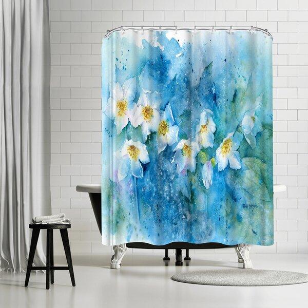 Rachel McNaughton Hellebores Shower Curtain by East Urban Home