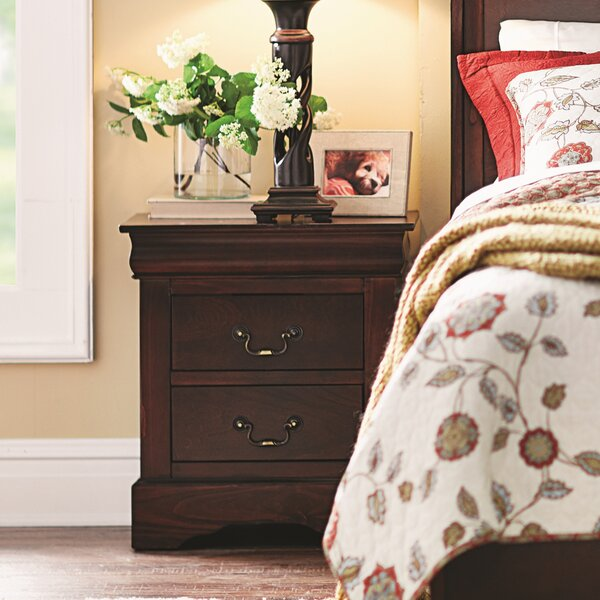 Ferrero 2 Drawer Nightstand by Three Posts